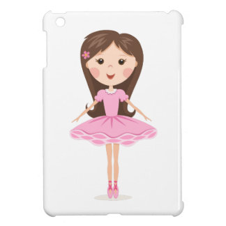 Pequeño chica lindo del dibujo animado de la baila iPad mini protector