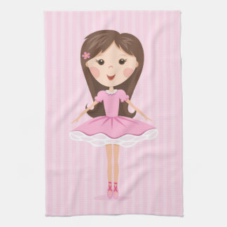 Pequeño chica lindo del dibujo animado de la baila toalla