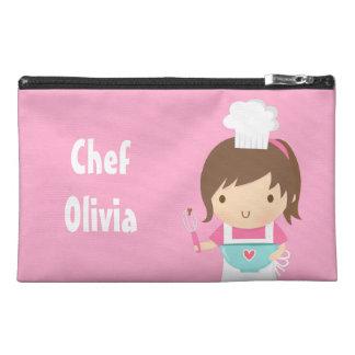 Pequeño chica lindo del panadero del cocinero