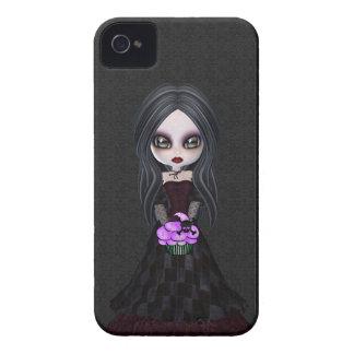 Pequeño chica lindo y espeluznante Blackberry del  iPhone 4 Protector