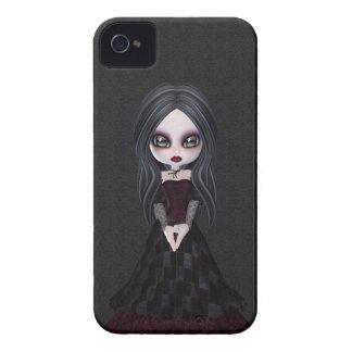 Pequeño chica lindo y espeluznante Blackberry del  iPhone 4 Case-Mate Cobertura