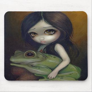 """""""Pequeño chica"""" Mousepad de la rana Tapete De Ratones"""