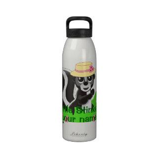 Pequeño chica personalizado de la cosa maloliente botellas de agua reutilizables