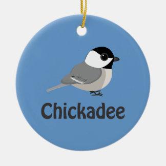 Pequeño Chickadee lindo Adorno De Navidad