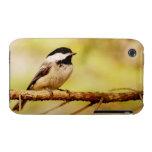Pequeño Chickadee lindo Case-Mate iPhone 3 Carcasa
