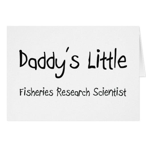 Pequeño científico de la investigación pesquera de tarjetas