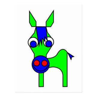 Pequeño Claus y Claus grande - caballo verde Tarjetas Postales