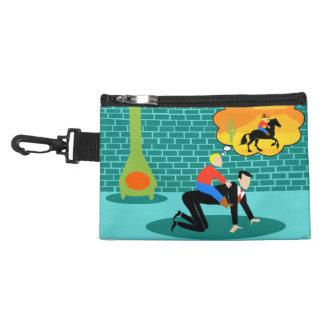 Pequeño clip retro del vaquero en bolso accesorio