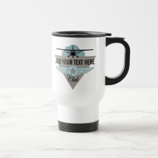 Pequeño club plano su texto aquí tazas de café