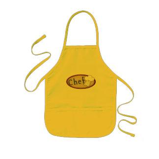 Pequeño cocinero delantal infantil