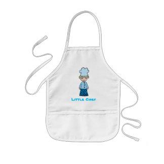 Pequeño cocinero fresco delantal infantil