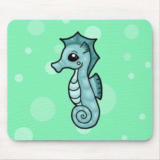 Pequeño cojín de ratón del seahorse alfombrillas de ratones