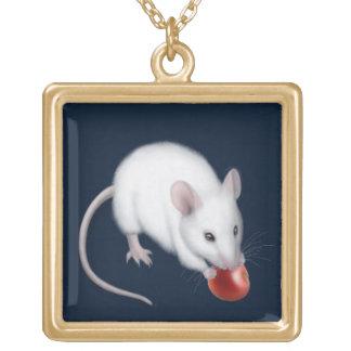 Pequeño collar blanco lindo del ratón