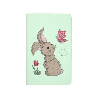 Pequeño conejito de la primavera de Brown Cuadernos Grapados