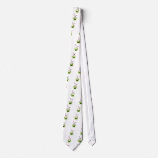 Pequeño conejo blanco corbata personalizada