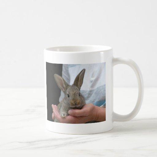 pequeño conejo dulce taza básica blanca
