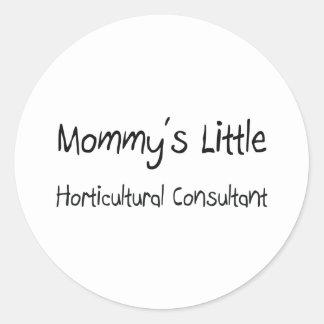 Pequeño consultor hortícola de Mommys Pegatinas Redondas