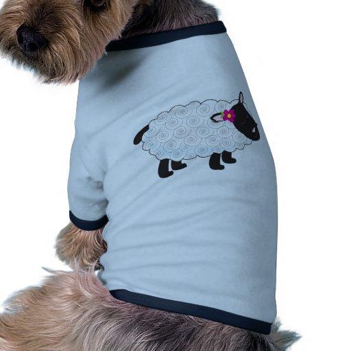 Pequeño cordero camiseta con mangas para perro