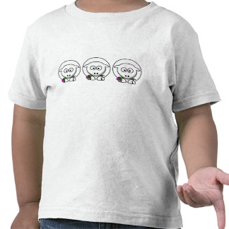 Pequeño cordero camisetas
