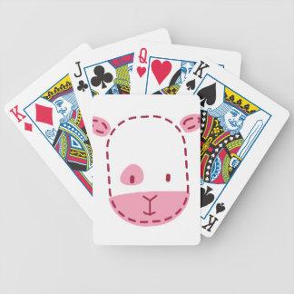 Pequeño cordero lindo baraja cartas de poker