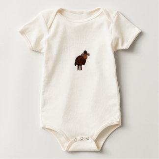 pequeño cordero marrón mamelucos