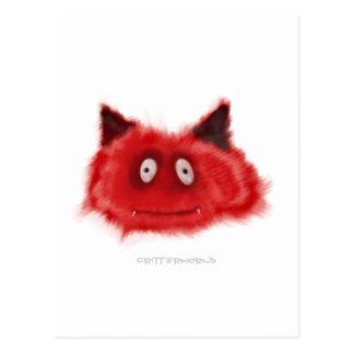 Pequeño Critter del diablo Postal