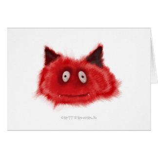 Pequeño Critter del diablo Tarjeta De Felicitación