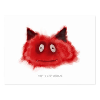 Pequeño Critter del diablo Tarjeta Postal