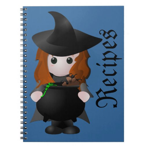 Pequeño cuaderno de la receta de la bruja
