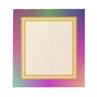 Pequeño cuaderno de notas de la nube de color mora bloc