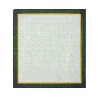 Pequeño cuaderno de notas del ladrillo verde bloc de notas