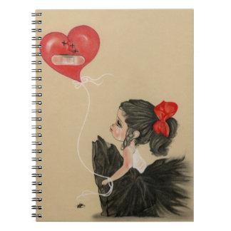 Pequeño cuaderno triste afligido del chica del dib