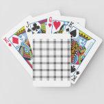 Pequeño cuadrado de cuatro bandas - negro en blanc baraja cartas de poker