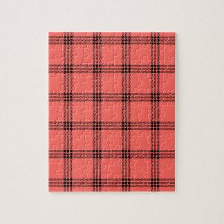 Pequeño cuadrado de cuatro bandas - negro en rojo  puzzles