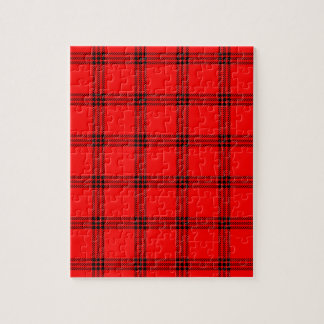 Pequeño cuadrado de cuatro bandas - negro en rojo puzzle