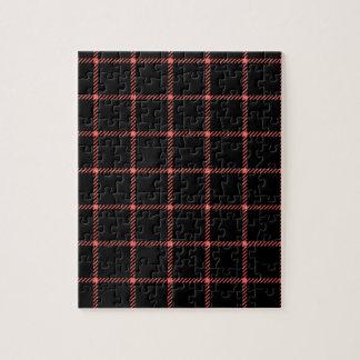 Pequeño cuadrado de dos bandas - rojo en colores p puzzles
