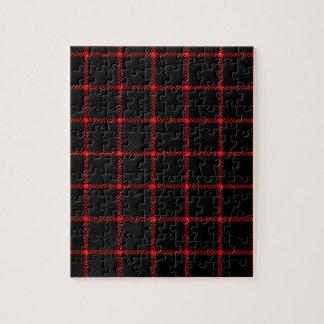 Pequeño cuadrado de dos bandas - rojo en negro puzzle