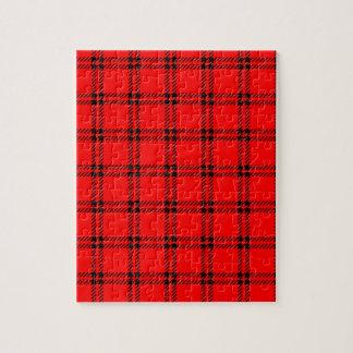 Pequeño cuadrado de tres bandas - negro en rojo rompecabeza con fotos