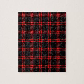 Pequeño cuadrado de tres bandas - rojo en negro puzzle con fotos