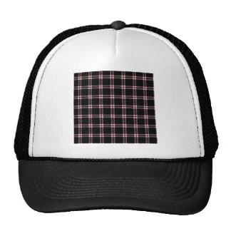 Pequeño cuadrado de tres bandas - rosa en negro gorras de camionero