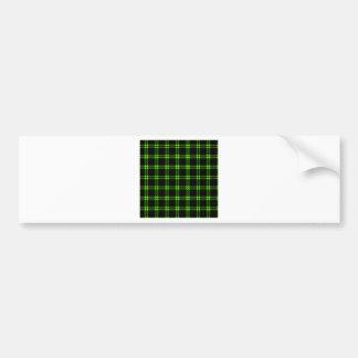 Pequeño cuadrado de tres bandas - verde claro en n pegatina para auto