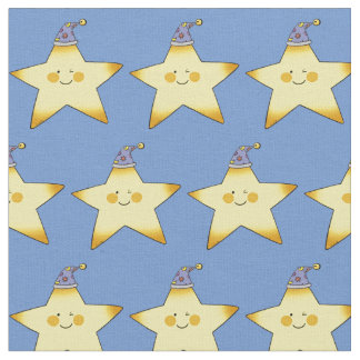 pequeño cuarto de niños amarillo de la estrella telas