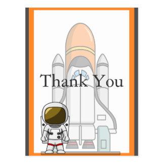 Pequeño cumpleaños del astronauta y de la nave postal