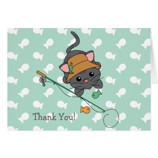 Pequeño cumpleaños del gatito - modificado para tarjeta pequeña