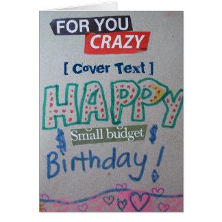 Pequeño cumpleaños feliz del presupuesto tarjeta de felicitación