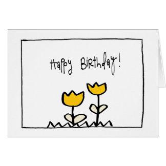 pequeño cumpleaños hapy de wobblies tarjeta pequeña