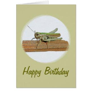 Pequeño cumpleaños verde del dibujo animado del tarjeta de felicitación