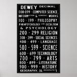 Pequeño decimal Busroll de Dewey de la biblioteca Póster