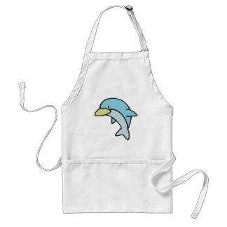 pequeño delfín lindo delantal