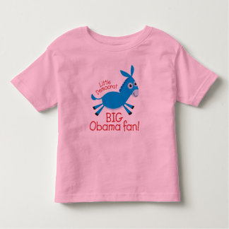 ¡Pequeño Demócrata - fan grande de Obama! Camisas